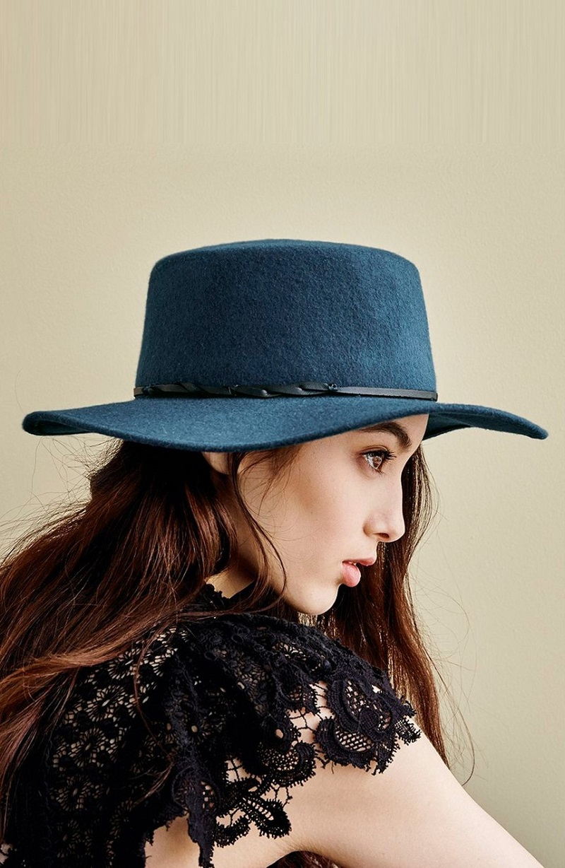 Hinge Flat Brim Felt Hat