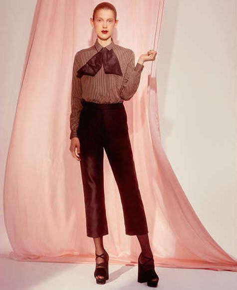Isa Arfen Classic Cotton & Silk Crop Pants