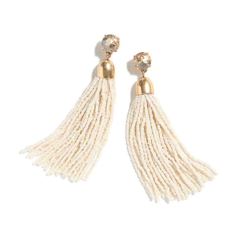 J.Crew Beaded Tassel Earrings
