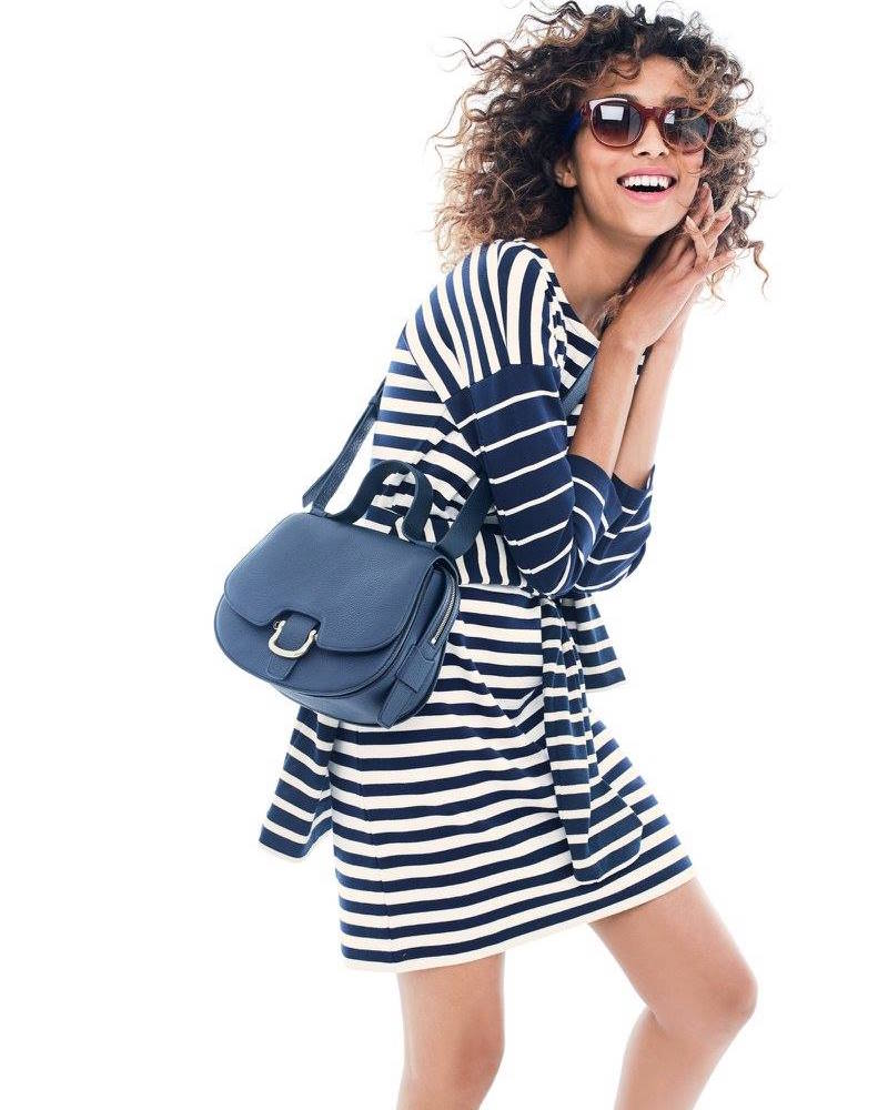 J.Crew Colorblock Stripe Ponte Dress
