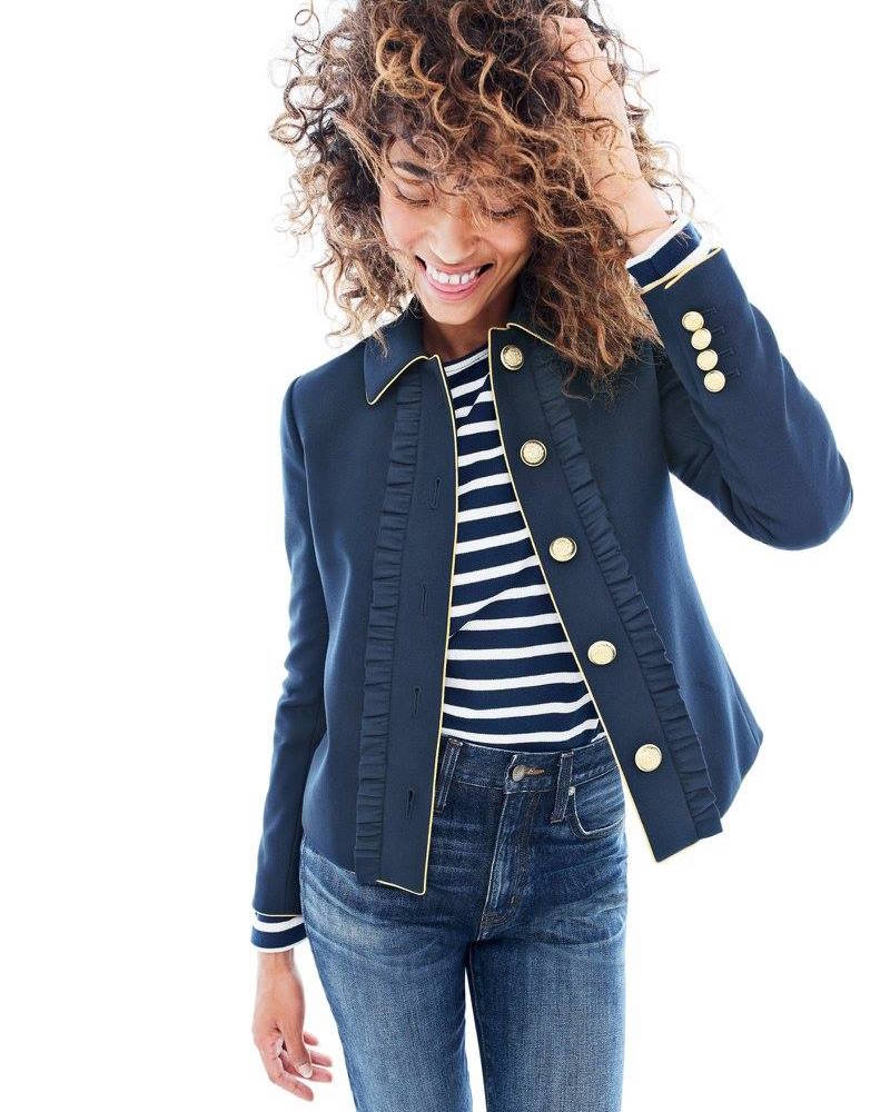 J.Crew Lady Jacket With Ruffles