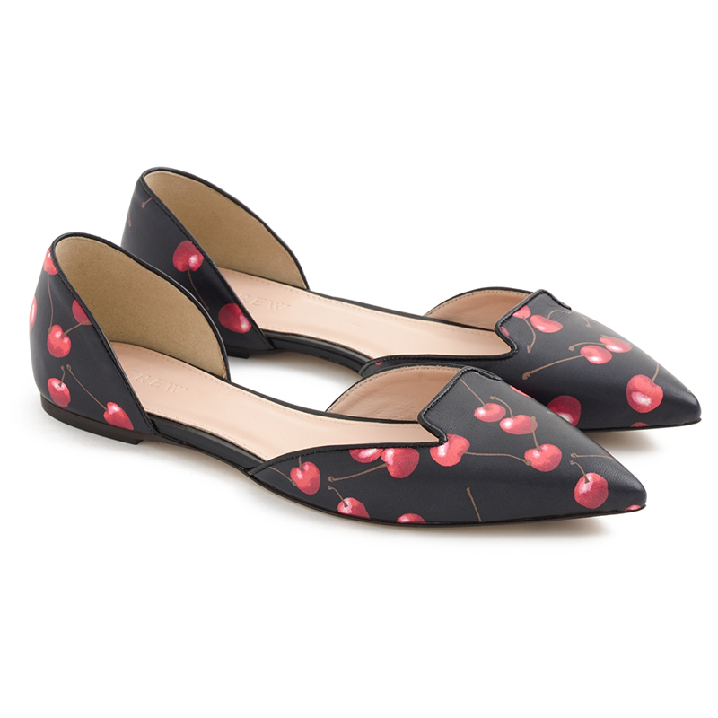 J.Crew Sadie Loafer Flats In Cherry Print