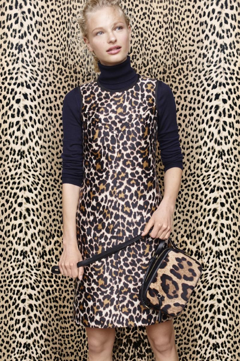 J.Crew Shift Dress in Leopard Print