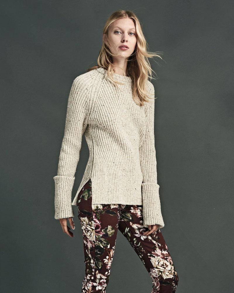JEN7 Nottingham Floral-Print Skinny Jeans