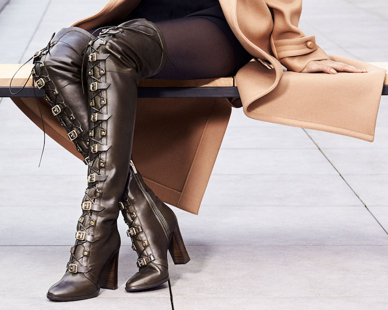 JIMMY CHOO Maloy 95 Black Leather Over the Knee Boots