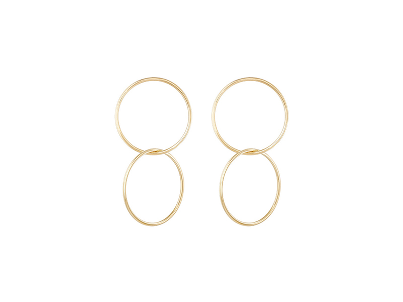 Jennifer Fisher Interlocked Smooth Circle Earrings