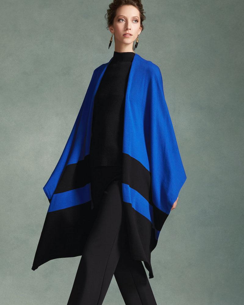 Joan Vass Striped Sweater Shawl