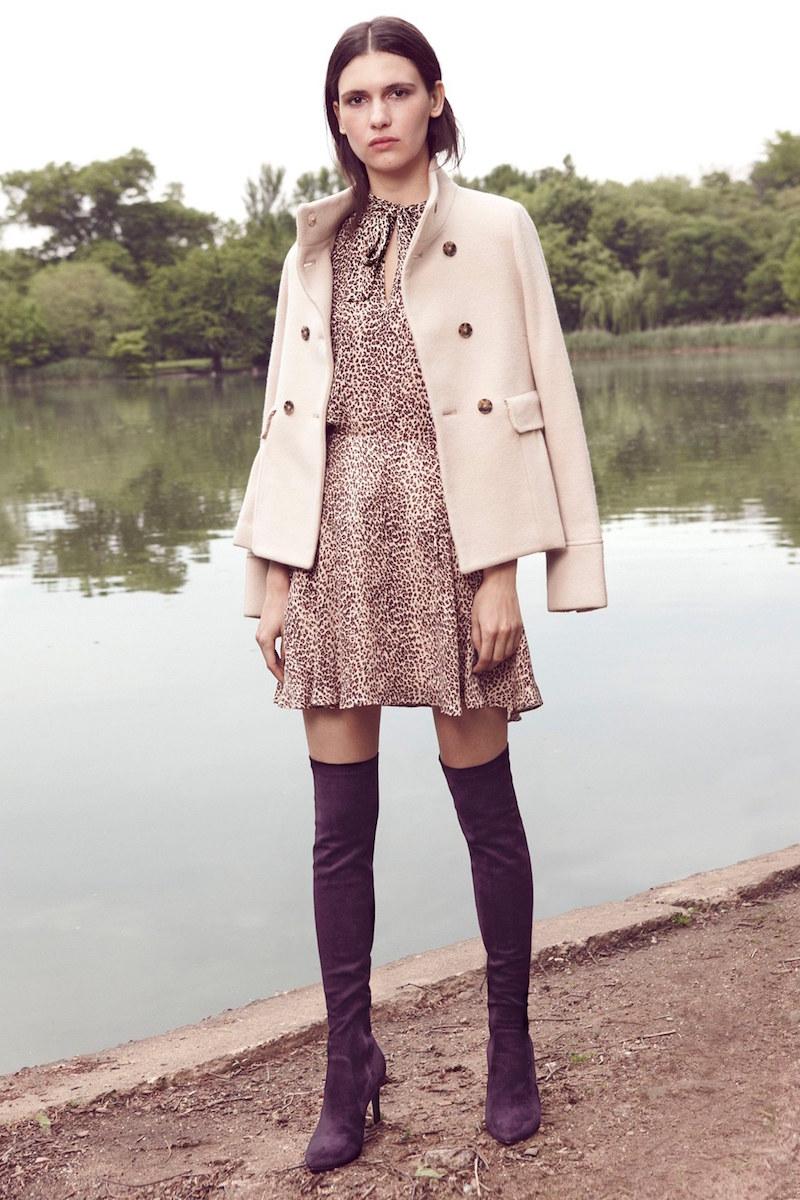 Joie Yara Wool Blend Peplum Peacoat