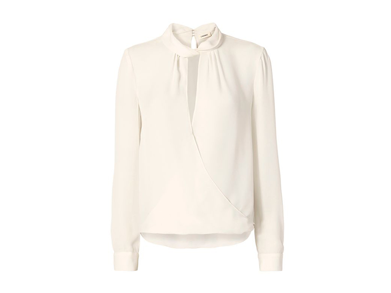 L'Agence Kendra Knot Collar Blouse