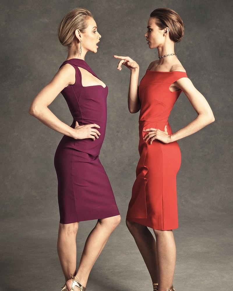 La Petite Robe di Chiara Boni One-Shoulder Ponte Sheath Dress
