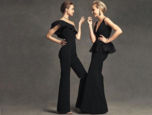 La Petite Robe di Chiara Boni One-Shoulder Stretch Jersey Ruffle Jumpsuit