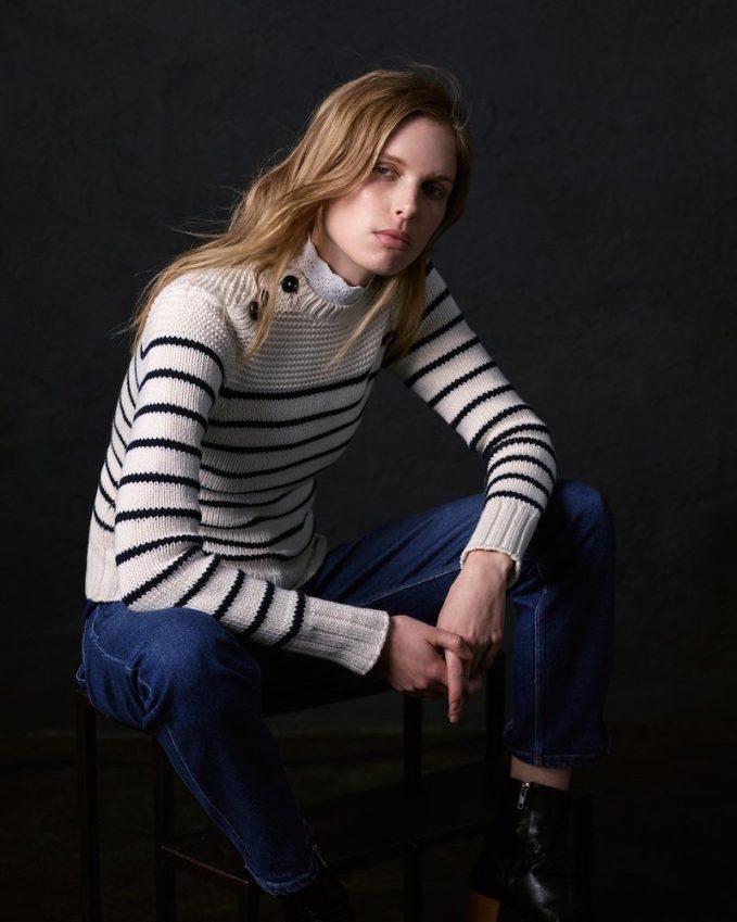 La Vie Rebecca Taylor Cotton Stripe Pullover