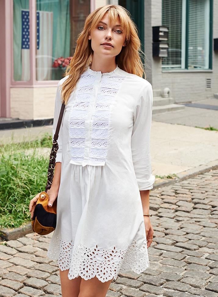 La Vie Rebecca Taylor Long Sleeve Lace Dress