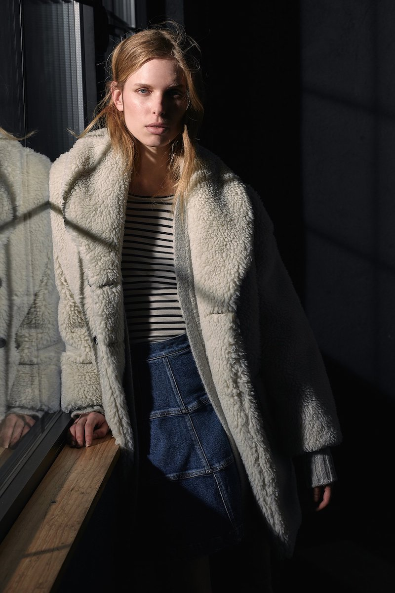 La Vie Rebecca Taylor Striped Jersey Top