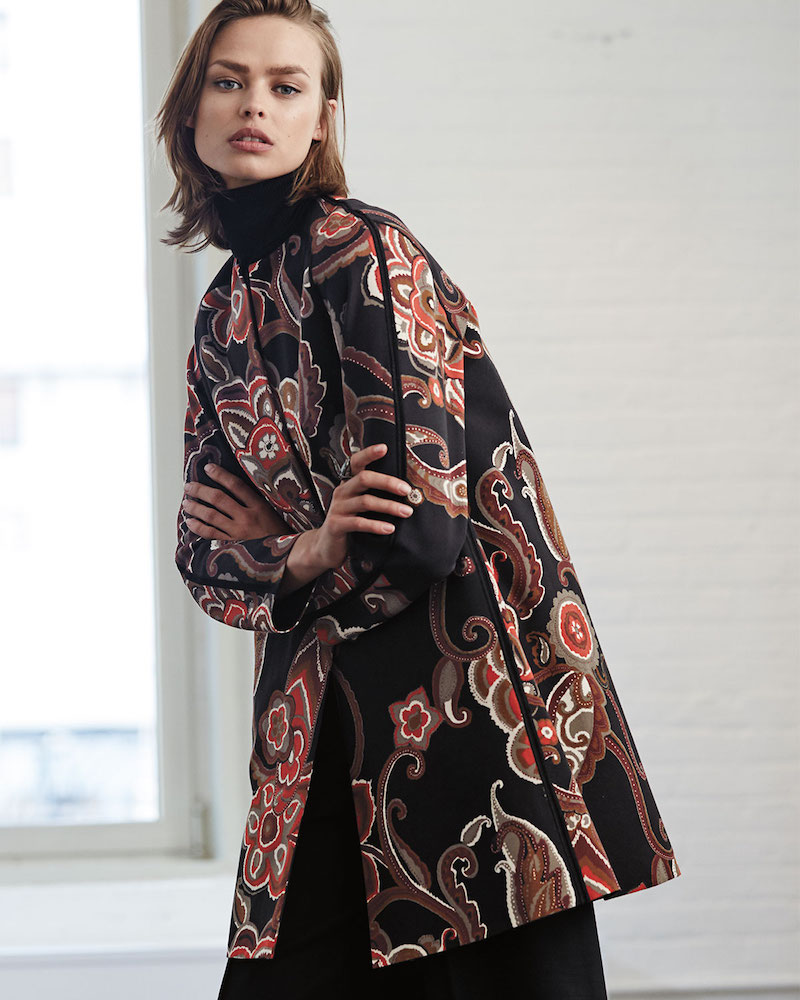 Lafayette 148 New York Makeda Paisley Open Front Topper Jacket