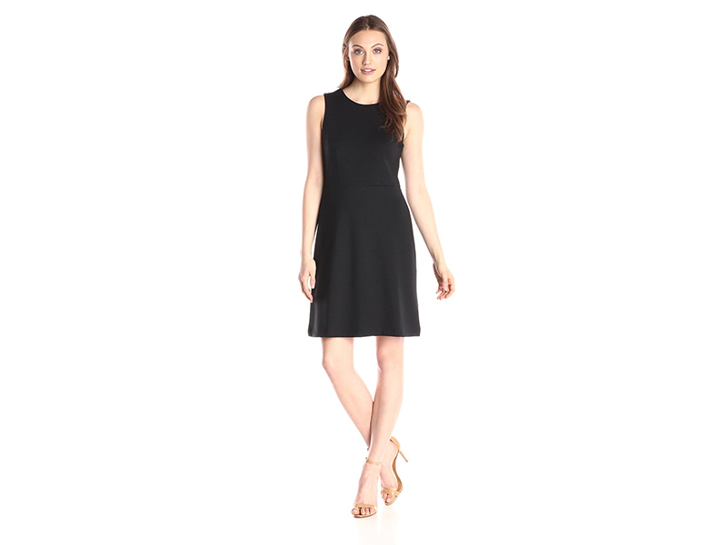 Lark & Ro Sleeveless Ponte A-Line Dress