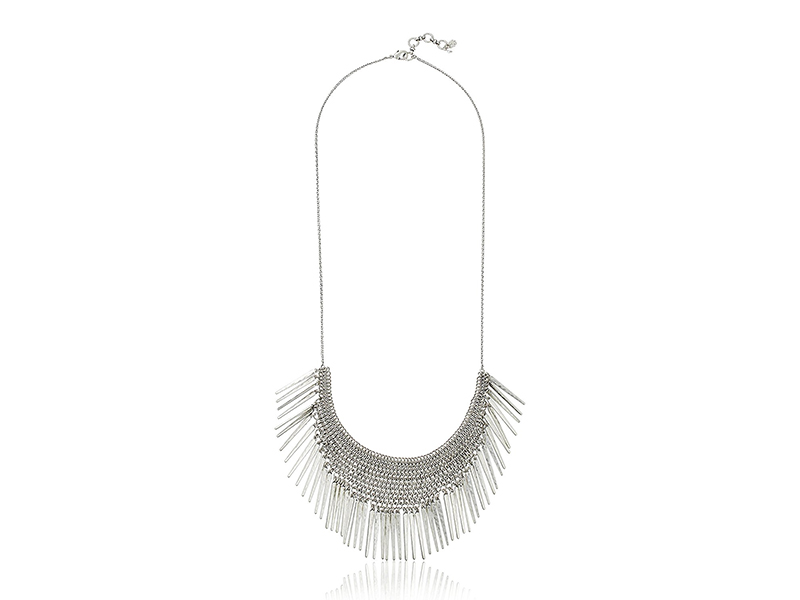 Lucky Brand Silver Major Fringe Necklace