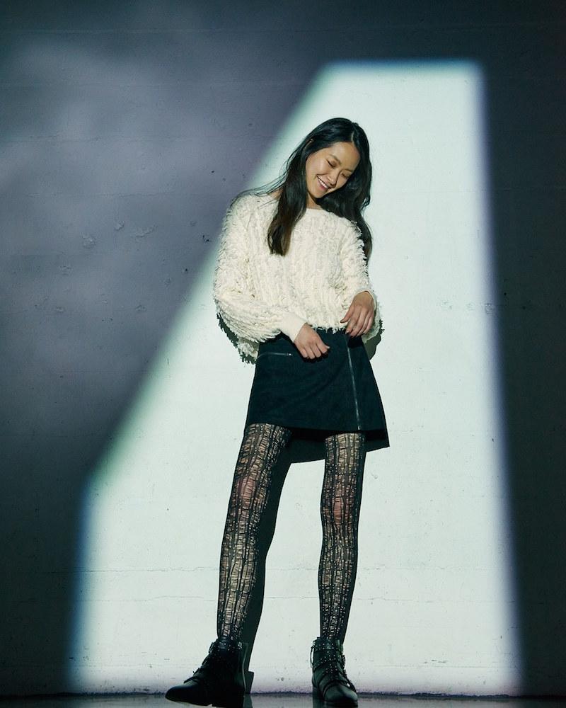 Lush Zip Front Faux Suede Miniskirt