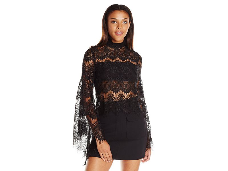MINKPINK Edge of Desire Lace Scallop Top