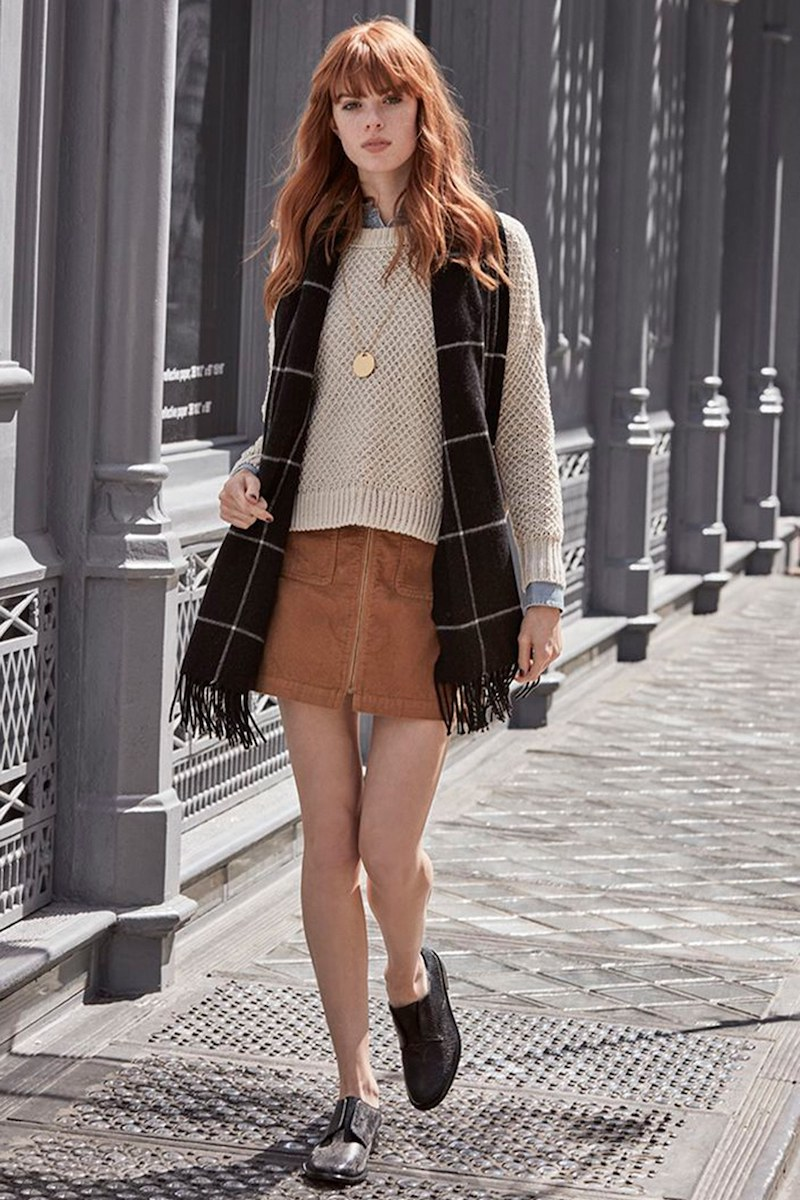 Madewell Zip Front Corduroy Miniskirt