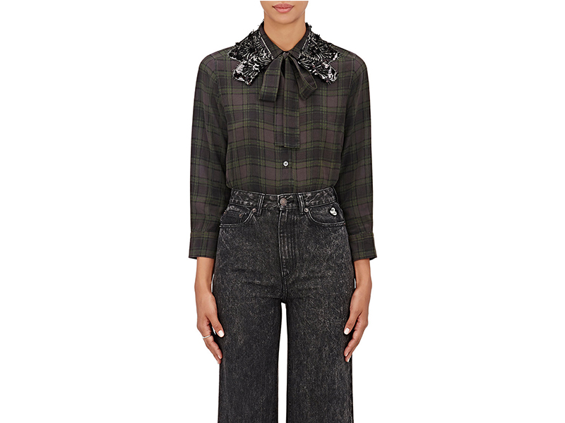 Marc Jacobs Sequin Embellished Crêpe De Chine Shirt