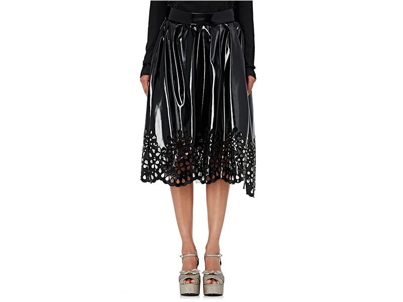 Marc Jacobs Vinyl Eyelet Midi Skirt