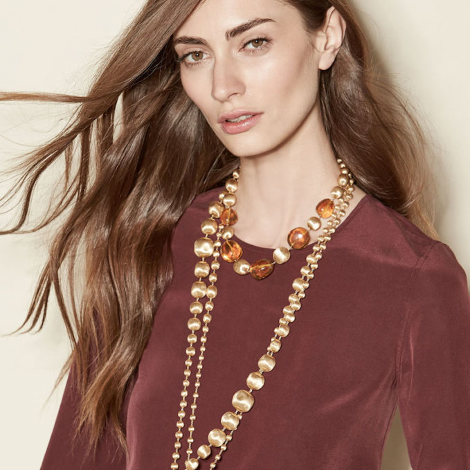 Marco Bicego 18K Gold & Amber Station Necklace