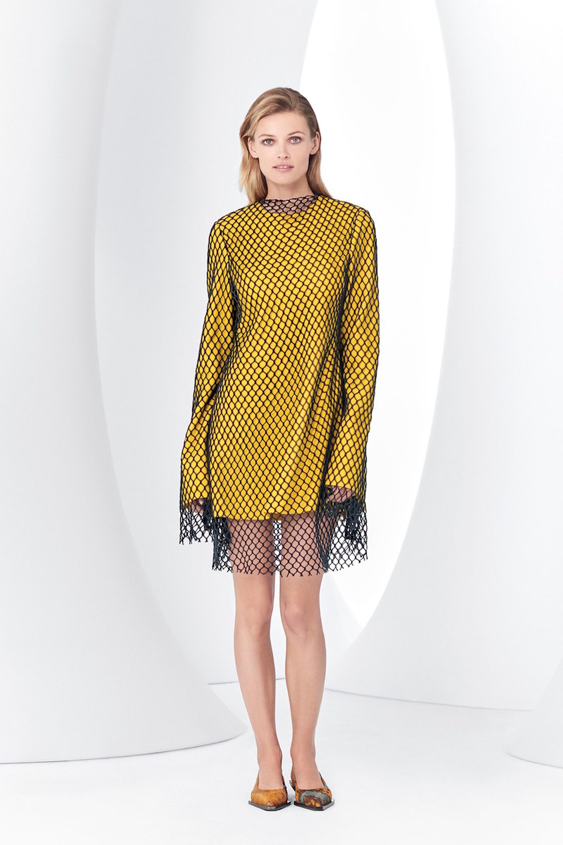 Marques'Almeida Long Sleeve Mesh Minidress