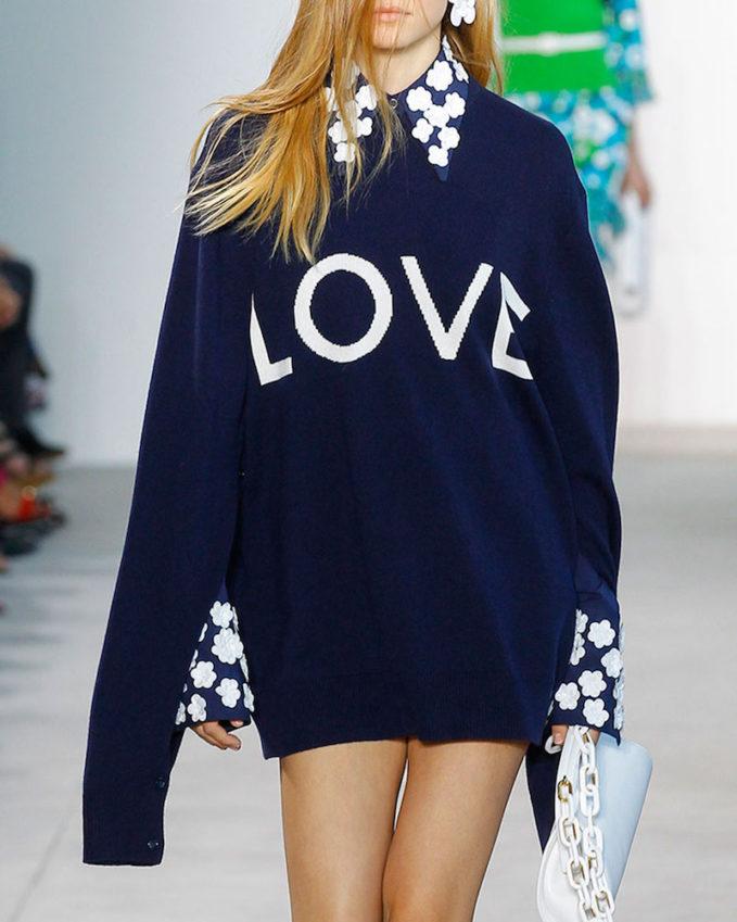 Michael Kors Love Oversized Crewneck Sweater