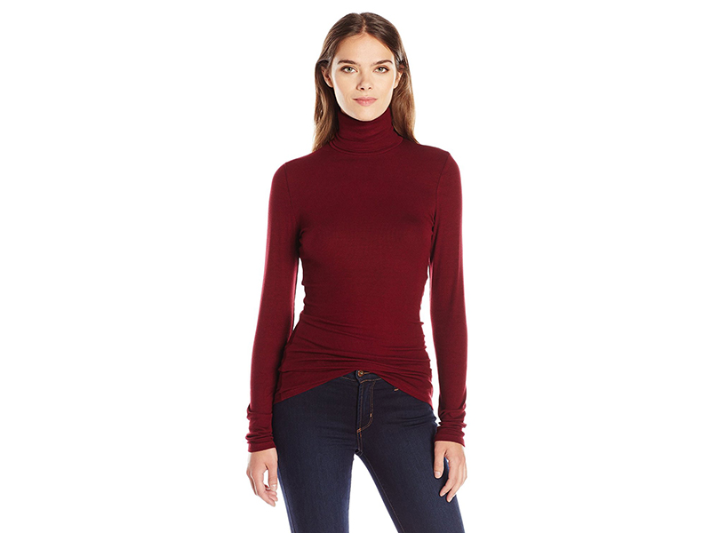 Michael Stars 2X1 Rib Long Sleeve Turtleneck