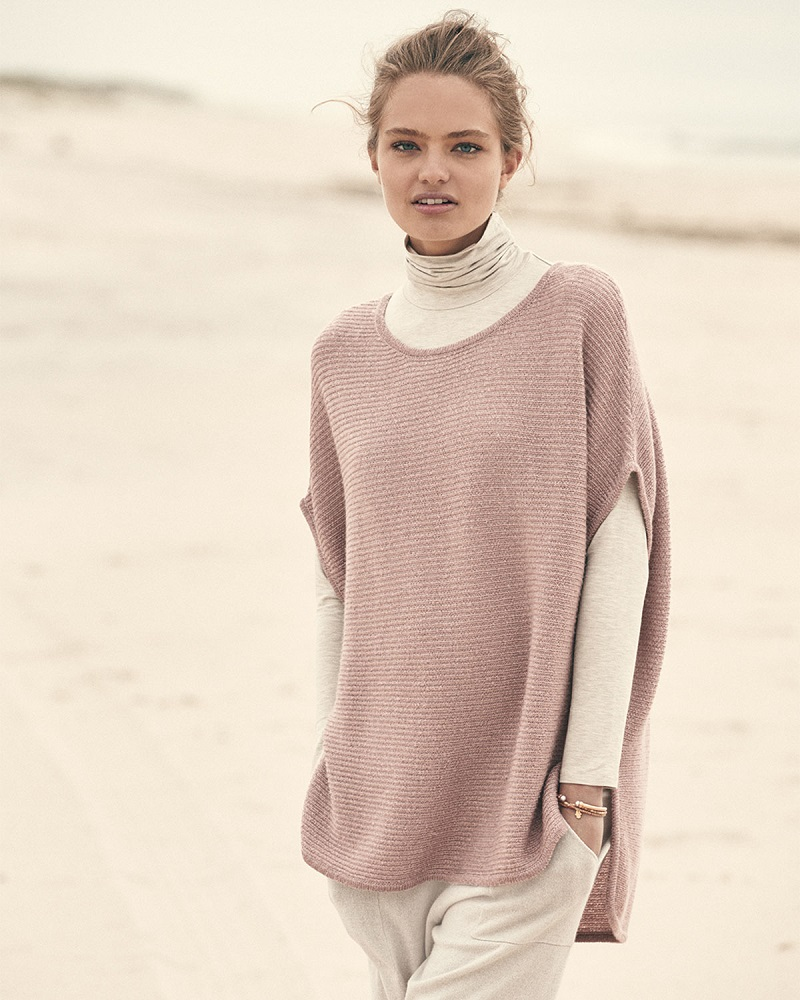 Neiman Marcus Cashmere Collection Horizontal-Ribbed Sequin Cashmere Top-