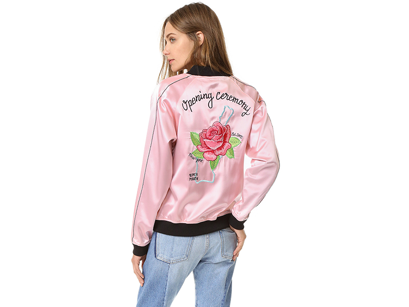 Opening Ceremony Silk Varsity Jacket
