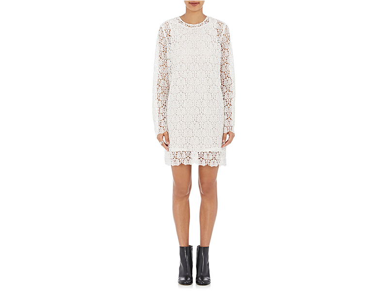 R/R Studio Guipure Lace Shift Dress