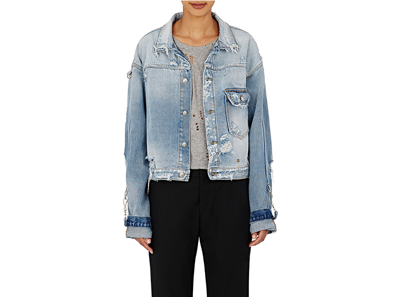R13 Distressed Denim Trucker Jacket