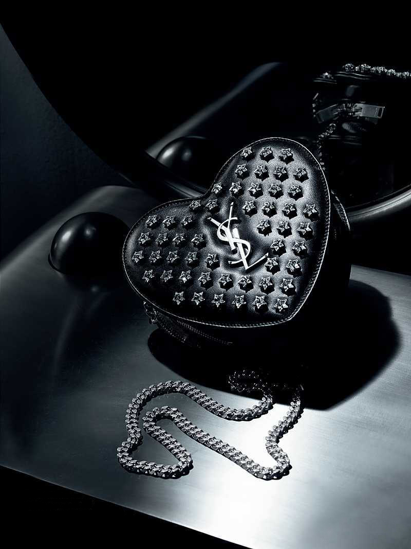 Saint Laurent Love Monogram Small Star-Studded Leather Shoulder Bag