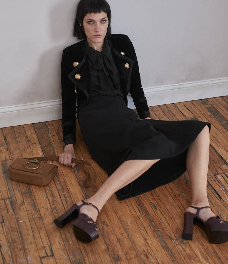 Saint Laurent Velvet Double-Breasted Jacket