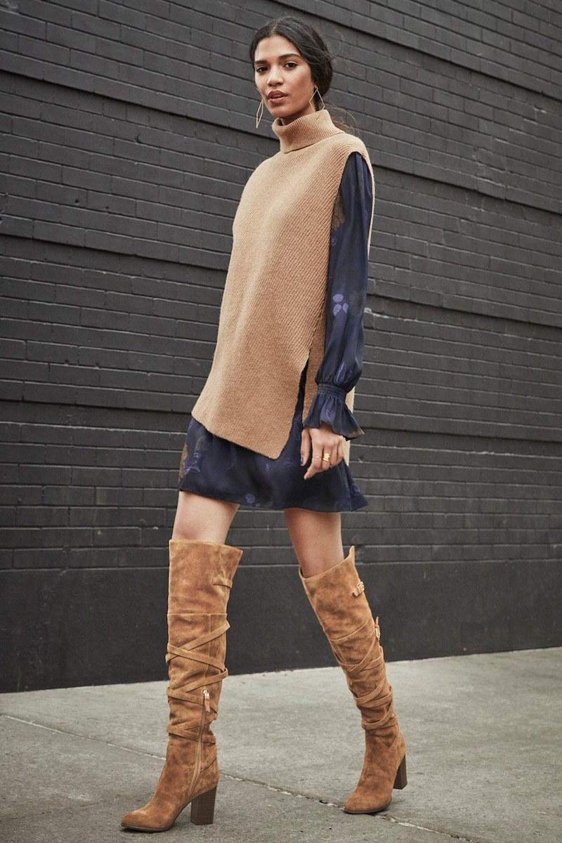 Sam Edelman Sable Over-the-Knee Boot , Halogen Asymmetrical Sleeveless ...