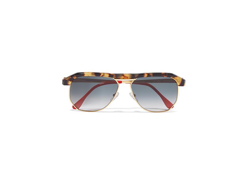 Sheriff&cherry Miami Aviator-style Tortoiseshell Acetate And Gold-tone Sunglasses