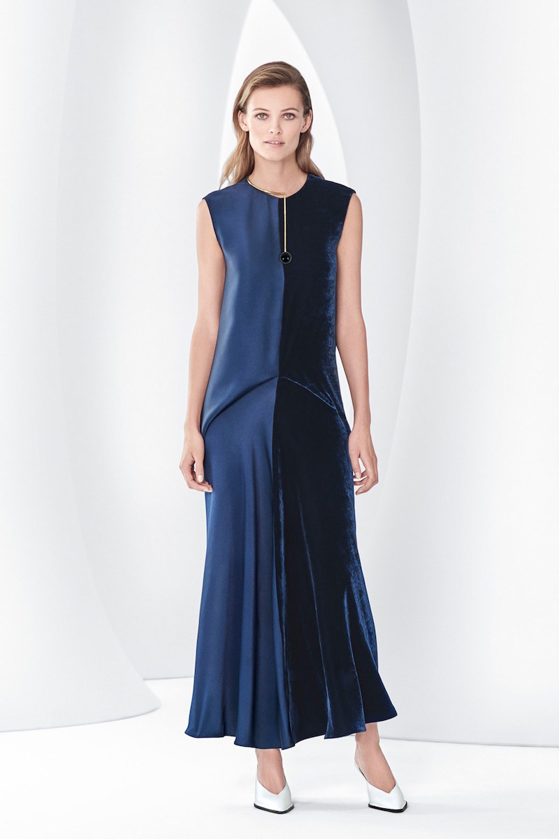 Stella McCartney Double Satin Velvet Dress