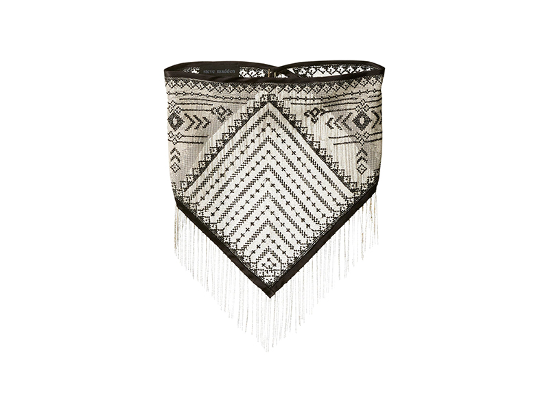 Steve Madden Metal Fringe Triangle Neck Handkerchief