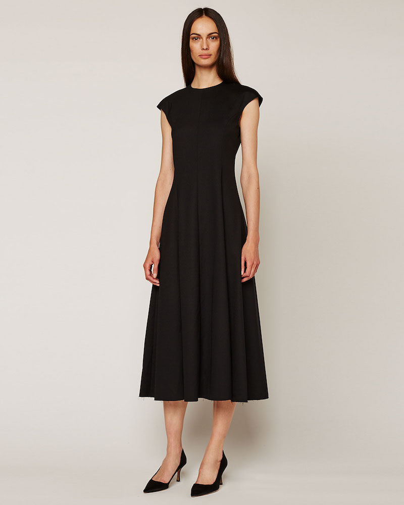 THE ROW Cher Cap-Sleeve Midi Dress