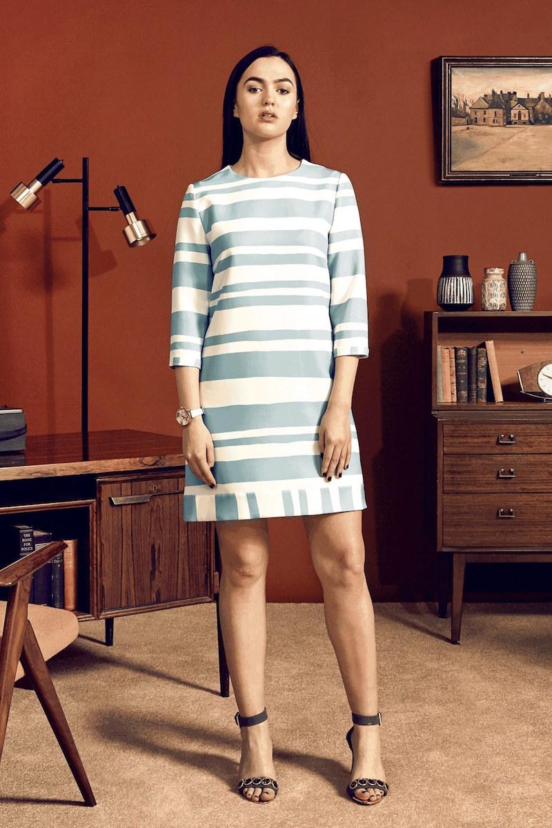 Ted Baker London Jangle Two Tone Stripe Shift Dress