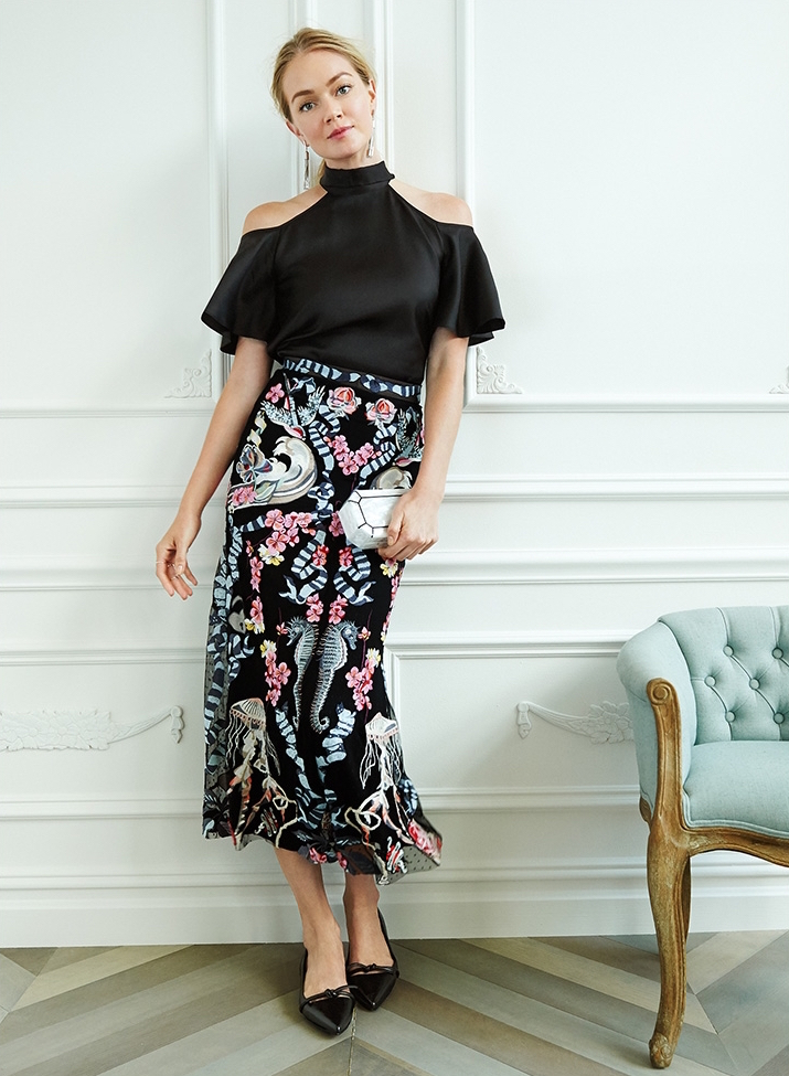 Temperley London Atlas Off the Shoulder Blouse