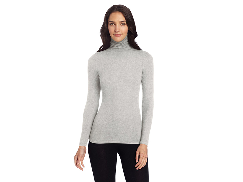 Three Dots Long-Sleeve Turtleneck Shirt