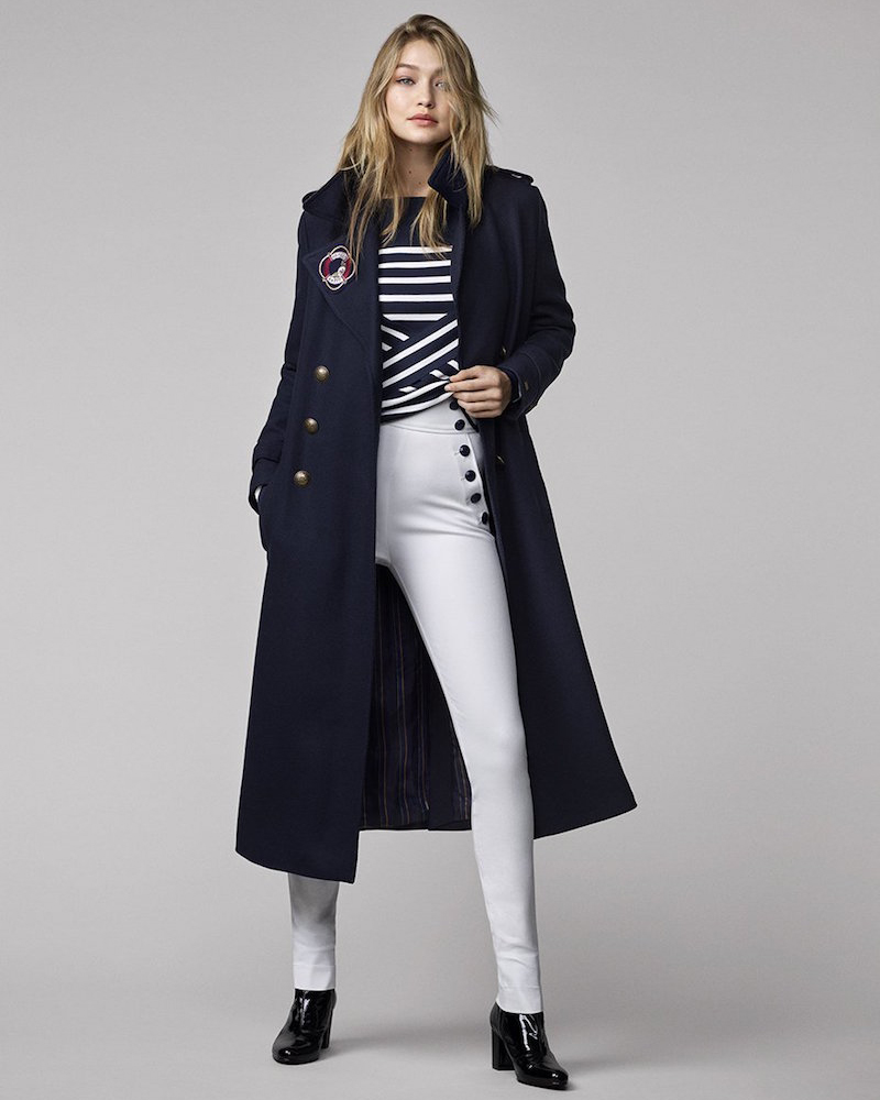 Tommy Hilfiger Gigi for Hilfiger Long Military Wool Coat