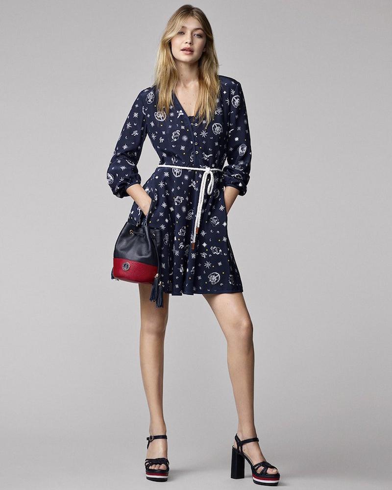 Tommy Hilfiger Gigi for Hilfiger Printed Silk Dress