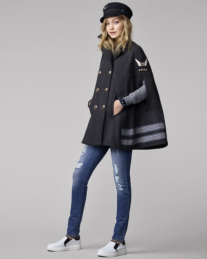Tommy Hilfiger Gigi for Hilfiger Wool Cape
