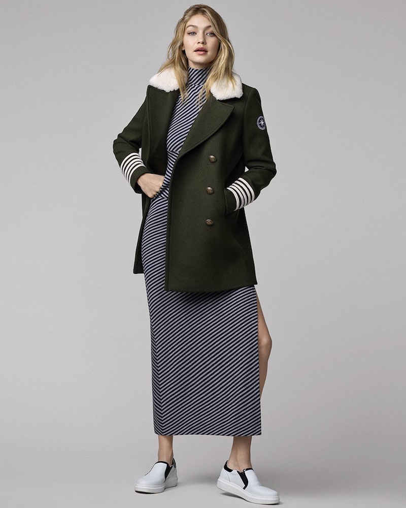 Tommy Hilfiger Gigi for Hilfiger Wool Slim Peacoat