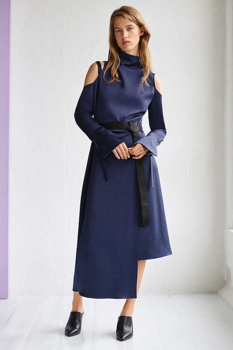 Topshop Boutique Funnel Neck Showstopper Dress