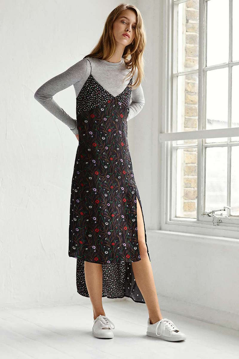 Topshop Boutique Hybrid Mix Print Dress